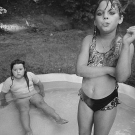 Amanda and her cousin Amy, Valdese, North Carolina, USA, 1990