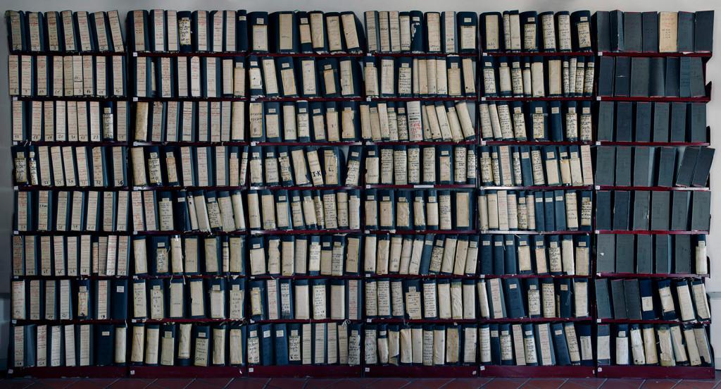 Fascicoli del maxiprocesso 1986-1987, Corleone, Palermo, 2012. Dalla serie Corpi di reato. (Tommaso Bonaventura/Alessandro Imbriaco/Fabio Severo)
