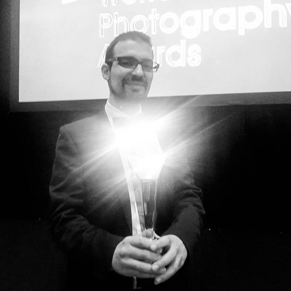 Francesco Amorosino ritira il premio.