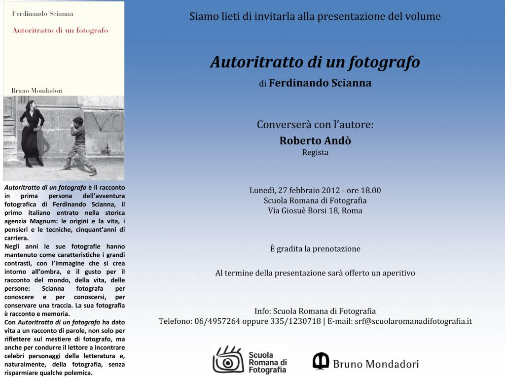 Bruno Mondadori  lieta di invitarla alla presentazione del volu