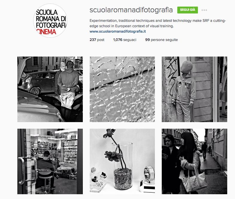 scuola fotografia instagram